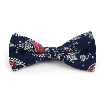 Paisley Wedding Cotton Banded Bow Tie - NFCB17116