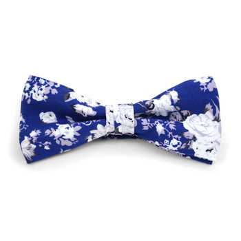 Floral Wedding Cotton Banded Bow Tie - NFCB17118