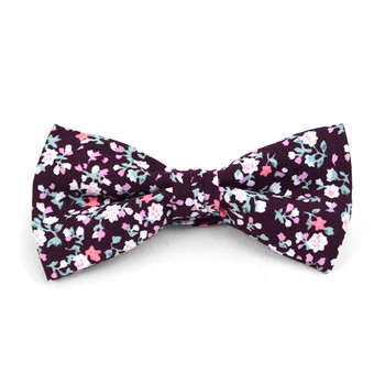 Floral Wedding Cotton Banded Bow Tie - NFCB17120