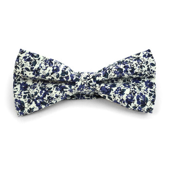 Floral Wedding Cotton Banded Bow Tie - NFCB17122