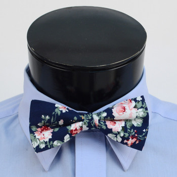 3pc Floral Wedding Cotton Banded Bow Tie - NFCB17123