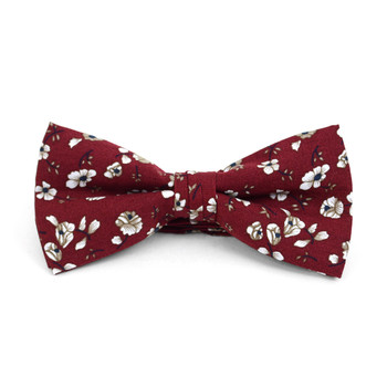 Floral Wedding Cotton Banded Bow Tie - NFCB17125