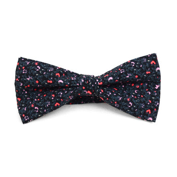 Floral Wedding Cotton Banded Bow Tie - NFCB17126
