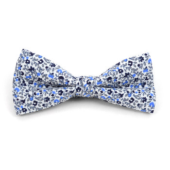 Floral Wedding Cotton Banded Bow Tie - NFCB17130