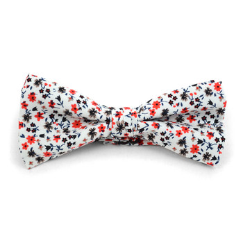 Floral Wedding Cotton Banded Bow Tie - NFCB17134