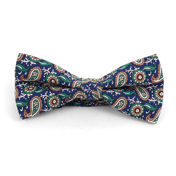 3pc Paisley Wedding Cotton Banded Bow Tie - NFCB17135