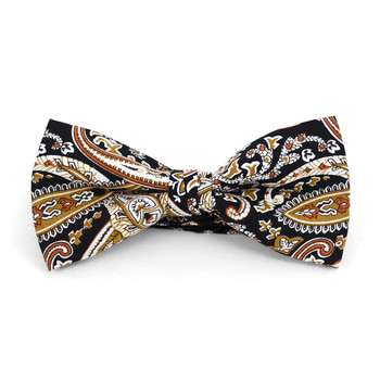 Paisley Wedding Cotton Banded Bow Tie - NFCB17136