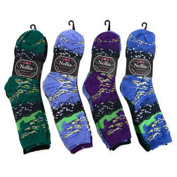4-Packs (3 pairs/pack) Women's Abstract Landscape Novelty Socks 3PKSWCS-696