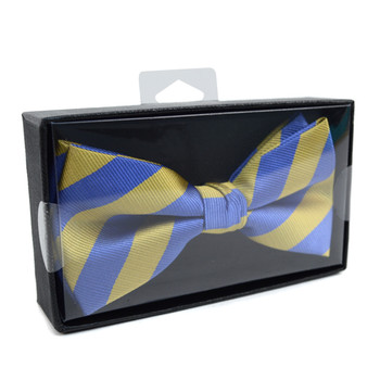 Men's Microfiber Poly Woven College Banded Bow Tie Box CBB3801BX
