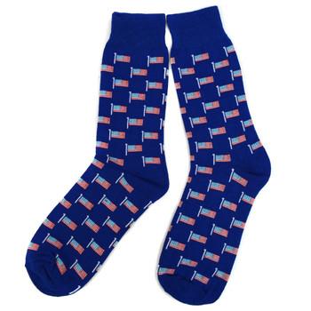 12pairs Men's American Flag Novelty Socks NVS1776-77