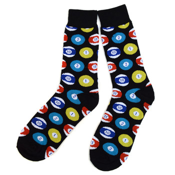 12pairs Men's Pocket Ball Novelty Socks NVS1784-BLK