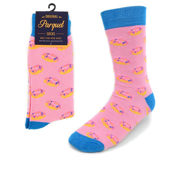 Men's Strawberry Doughnut Novelty Socks NVS1788-PK