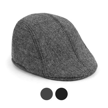 6pc Two Sizes Boy's Fall/Winter Herringbone Ivy Hat - BIH10337