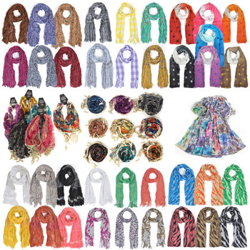 120pc Mixed Spring/Summer Viscose Fashion Scarves LVscarf-CO