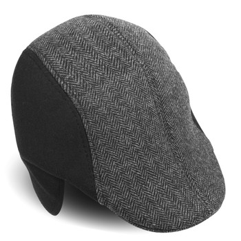 Fall/Winter Herringbone Ivy Hat with Ear Flaps  - H177307-08