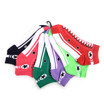 Assorted (6 pairs/pack) Women's Sneakers Shoes  Low Cut Socks EBA-601