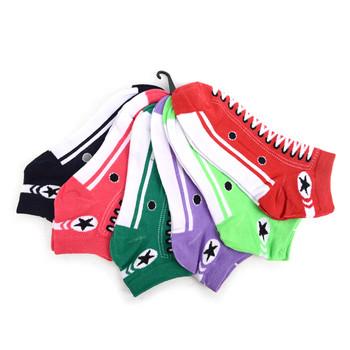 4-Packs (6 pairs/pack) Assorted Women's Sneakers Shoes  Low Cut Socks EBA-601