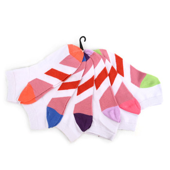 Assorted (6 pairs/pack) Women's Multi-color Bottom  Low Cut Socks EBA-668