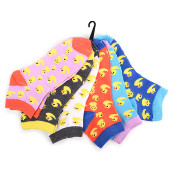 Assorted Pack (6 pairs) Women's Ducky Novelty Low Cut Socks EBA-687
