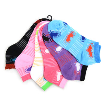 Assorted (6 pairs/pack) Women's Hearts Low Cut Socks LN6F1633