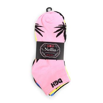 Assorted Pack (6 pairs) Women's Cannabis Low Cut Socks LN6F1634