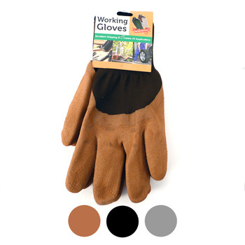 12pc Pack Working Gloves with Rubber Palm Coated - WGL1711