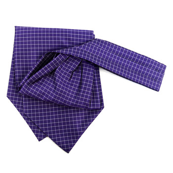 Checkered Pattern Microfiber Poly Woven Ascot With Hooks - PPA1711