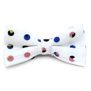 Boy's White Clip-on Suspender, Polka Dots Ivy Hat & Matching Bow Tie Set (BSBIV08007H31-1)
