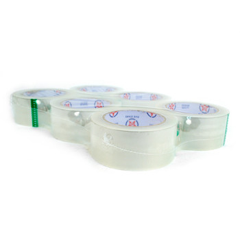 "6-Rolls Clear Packing Tape Commercial Grade - 2"" Wide -TPC2"