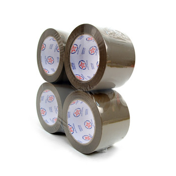 "4-Rolls Tan Packing Tape Commercial Grade-3"" Wide  -TPT3"