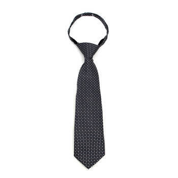 "Boy's Black Dots Zipper Tie 11"" - MPWZ11-BK2"