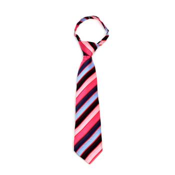 """Boy's Fuchsia Striped Zipper Tie 11"""" - MPWZ11-FA1"""