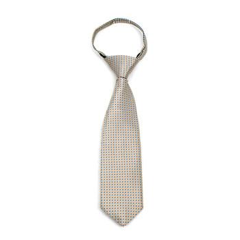 "Boy's Khaki Dots Zipper Tie 11"" - MPWZ11-KHAKI2"