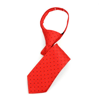 "Boy's Red Dots Zipper Tie 11"" - MPWZ11-RD1"