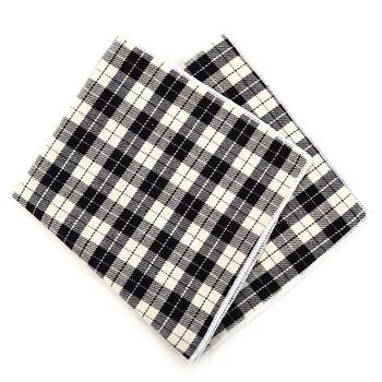 12pc Cotton Plaid Pocket Square Handkerchiefs - CH1721