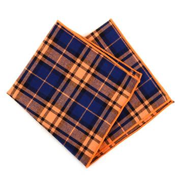 12pc Cotton Plaid Pocket Square Handkerchiefs - CH1725