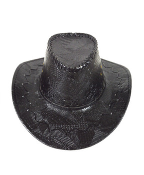 "6pc Pack 3.5"" Brim Cowboy Hat H9345"