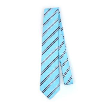Striped Microfiber Poly Woven Tie - MPW5901