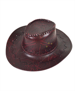 "6pc 3.5"" Brim Cowboy Hat H9344"