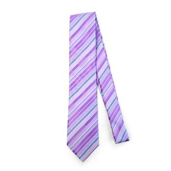 Striped Microfiber Poly Woven Tie - MPW5904