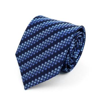 Geometric Microfiber Poly Woven Tie - MPW5918