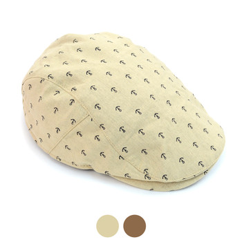 Spring/Summer Anchor Pattern Ivy Hat with Snap Button - ISS1815/16