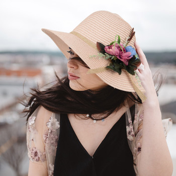 Women's  Flower Floppy Hat LFH1825