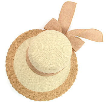 Women's Ribbon Bow Small Back Floppy Sun Hat LFH1888