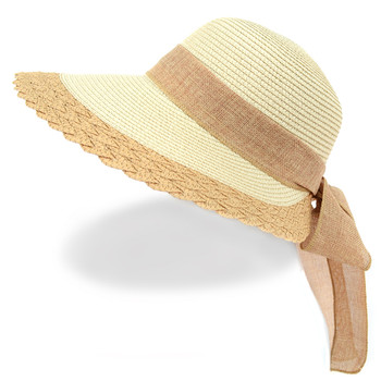 Women's Ribbon Bow Small Back Floppy Sun Hat LFH1888