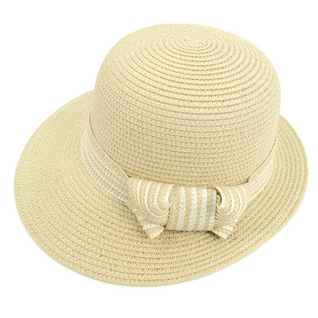 Women's Straw Ribbon Band Floppy Hat LFH1892