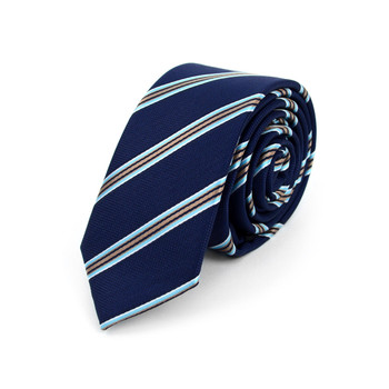 "Striped Microfiber Poly Woven 2.25"" Slim Tie - MPWS5901"
