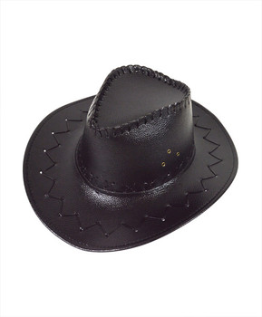 "6pc 3.5"" Brim Cowboy Hat H9311"