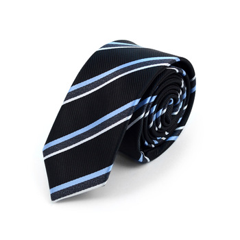 "Striped Microfiber Poly Woven 2.25"" Slim Tie - MPWS5903"
