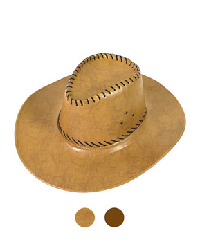 "6pc 3.5"" Brim Cowboy Hat H9309"